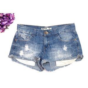 COTTON ON Distressed Denim Cut Off Short Shorts 4